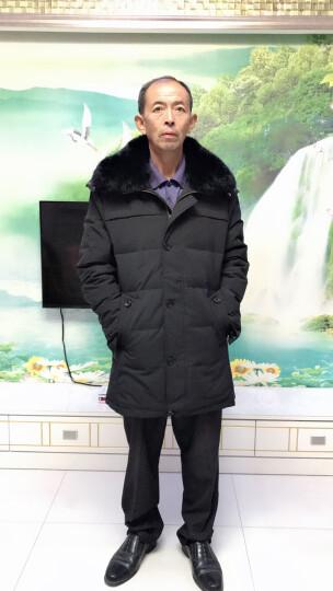 南极人羽绒服男中老年中长款加厚保暖连帽羽绒服男老年人外套男装冬季新品大码宽松爸爸装送礼 687-深蓝色 L(可穿110-125斤) 晒单图