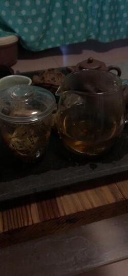 heisou茶杯茶壶玻璃耐热透明带过滤茶水分离男女士居家用办公双层带盖三件式泡茶壶650ml茶具KC156 晒单图