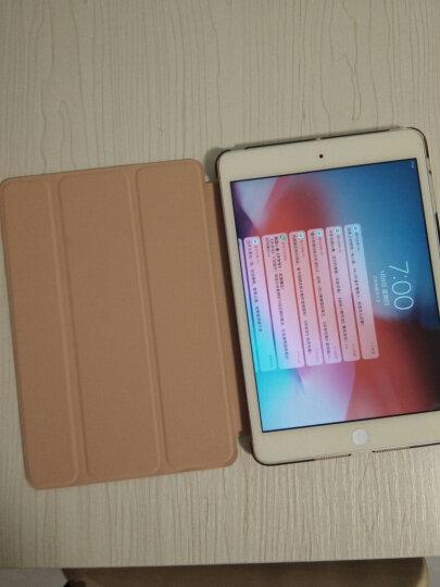 毕亚兹 苹果iPad Mini2/3/1保护套 轻薄防摔 支架平板电脑保护后壳 全包边智能休眠三折商务皮套 PB10-土豪金 晒单图