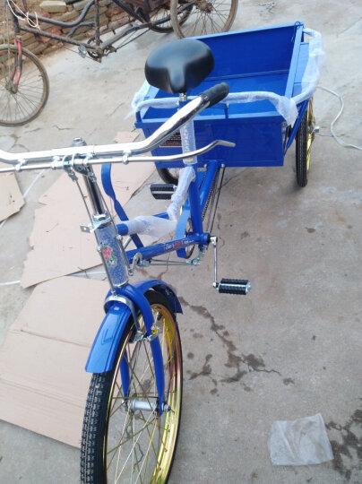 南洋 牌人力三轮车,0.68~0.8米车厢,迷你小巧轻便款,老人代步买菜三轮自行车脚踏车 B款(QG26-3P)0.8米车厢 晒单图