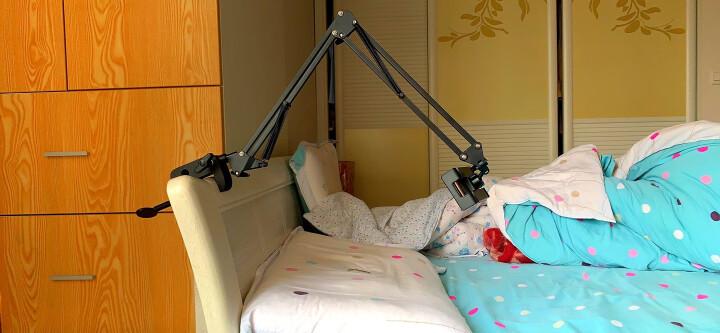 绿联 桌面磁吸手机支架 ipad平板直播懒人床头夹床上看电视架子多功能可调节吸盘 通用苹果华为小米手机40358 晒单图