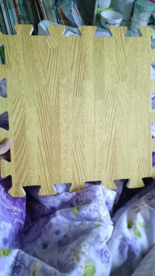 明德Meitoku 浅色木纹泡沫地垫 PE泡沫垫 宝宝爬行垫 安全爬爬垫环保儿童拼接地垫 30*30*1cm (9片装) 晒单图