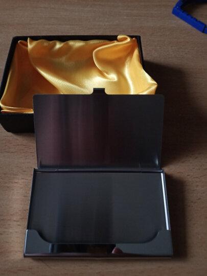 杜尔 名片盒不锈钢薄名片夹男士商务时尚礼品金属创意 直线 厚款 晒单图