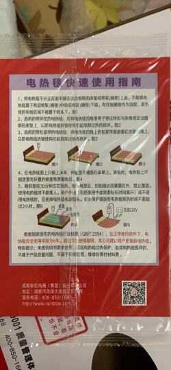 彩虹电热毯单人 电褥子学生宿舍安全电毯子无纺布调温型 长1.5米宽0.7米  1215AA-C 晒单图
