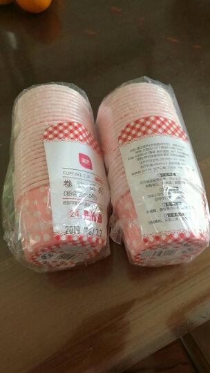 展艺蛋糕纸杯马芬杯 耐高温烘焙面包托模具24只 粉色圆点 中号 晒单图