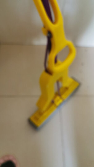 妙洁海绵拖把 家用办公室吸水墩布懒人免手洗自动胶棉托地板对折式清洁伸缩长杆工具刮水神器 共2个替换头 晒单图