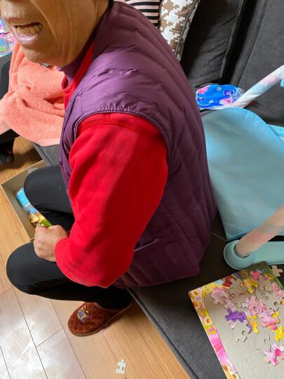 雅鹿中老年人羽绒马甲女内穿大码短款保暖背心坎肩妈妈内胆马夹冬 紫色玫瑰花 185/4XL 晒单图