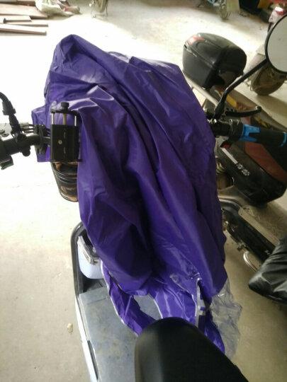雨衣男女雨披电动车摩托车加大雨衣单人加厚时尚透明大帽檐雨披双帽檐雨披双面罩加大雨衣 双面罩黄色 晒单图