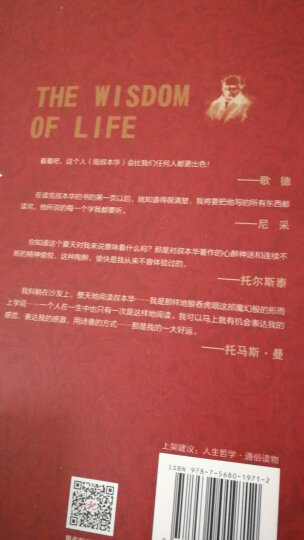 人生的智慧:大哲学家叔本华花甲之年的成名作(京东定制) 晒单图