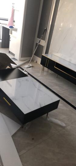 欧斯廷 轻奢茶几 电视柜茶几组合套装玻璃茶几桌客厅茶几简约后现代电视机柜 C190 2.2m电视柜 大理石面 晒单图