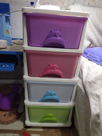 也雅 Yeya 塑料整理箱简约收纳柜盒储物玩具五层 晒单图