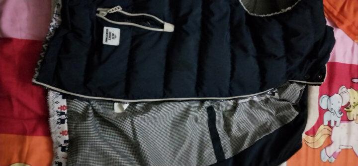 JS&KE 马甲男秋冬韩版加厚保暖棉马甲卸帽马夹背心男修身马甲外套男 深蓝色1618 XL(135斤以下) 晒单图