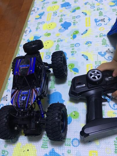 美致模型(MZ) 遥控车 1:14 大脚攀爬车 充电遥控越野汽车四驱大脚车模型儿童男孩玩具 亮蓝色 晒单图
