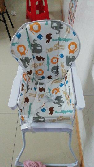 孩子家婴儿餐椅儿童多功能宝宝餐椅可折叠便携式吃饭桌椅座椅 迷你嫩绿 晒单图