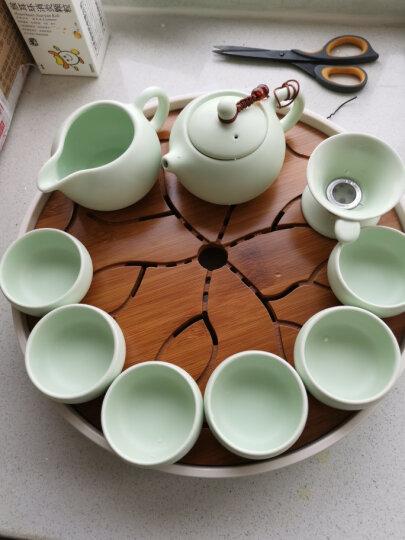 澳爵斯 整套紫砂陶瓷功夫茶具套装茶杯 便携竹制干泡茶盘储水茶台茶道茶海茶壶 14款:西施定窑1壶2杯(小盘) 晒单图