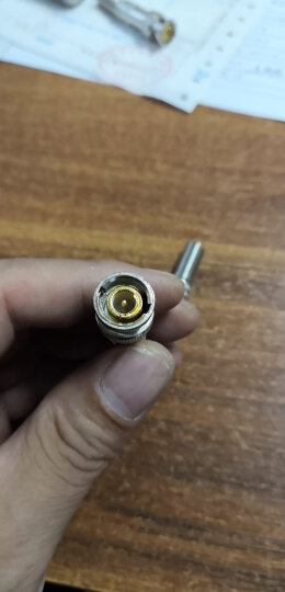 Yestv BNC接头免焊接铜芯Q9头监控摄像机配件视频线连接器工程专用视频线转接头公母BNC-E款 1个 公头 晒单图