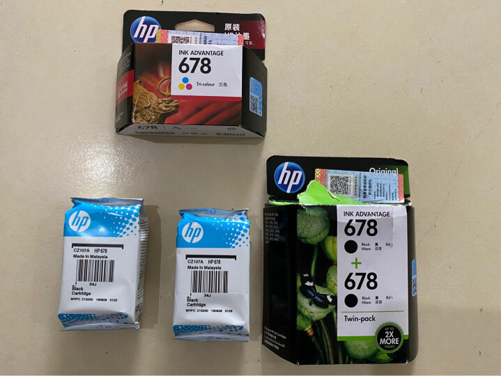 惠普(HP)678原装墨盒 适用hp 1018/2515/1518/4648/3515/2548/2648/3548/4518打印机 黑色墨盒 晒单图
