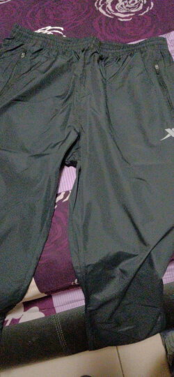 特步男装运动裤长裤2020夏季跑步裤款透气薄款休闲裤子R 黑 L 晒单图