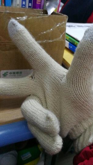 卡兰薇触摸屏手套韩版学生可爱全指骑车针织手套两种戴法 米色 晒单图