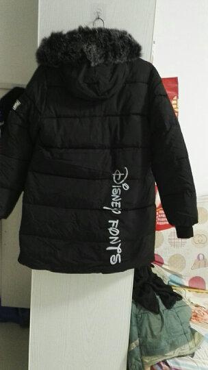 反季清仓棉服女中长款修身韩版棉衣保暖加厚棉袄大码冬款外套大毛领 黑色 XL(115-125斤) 晒单图