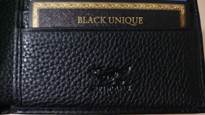 七匹狼男式短款钱包 时尚两折横款多功能驾驶证件夹卡包票夹 3A1310185-02 啡色 晒单图