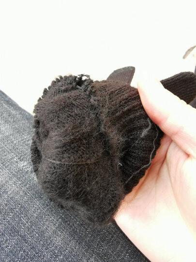 杜森纳 男女保暖加厚毛线手套男士触屏冬季防寒保暖加厚开车防滑户外手套 黑色-礼盒装 晒单图