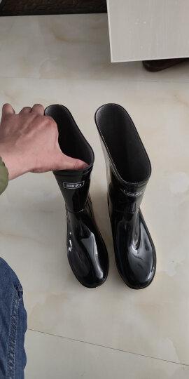 回力雨鞋男士中高筒防水雨鞋户外雨靴套鞋 HXL807 黑色中筒 42码 晒单图