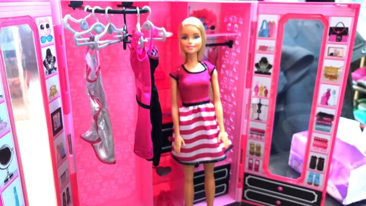 芭比(Barbie)女孩娃娃玩具礼盒 梦幻衣橱DKY31 晒单图