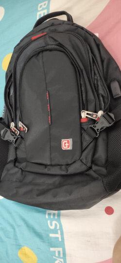 SWISSGEAR电脑包 双肩背包男15.6英寸笔记本包苹果戴尔商务旅行休闲学生书包 SA-9951黑色 晒单图