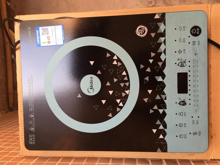 美的(Midea)电磁炉 匀火188mm大线圈盘 410mm大面板 十档火力 C21-WT2112T(标配欧式汤锅/渗氮防锈炒锅) 晒单图