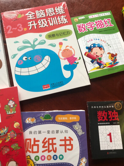 邦臣小红花·全脑思维升级训练-2-3岁(全2册) 晒单图