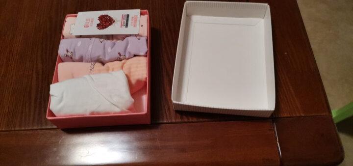 红豆女士内裤 女 棉质4色三角裤纯色中腰清新柔软礼盒装 8087-16 170/90(XL) 晒单图