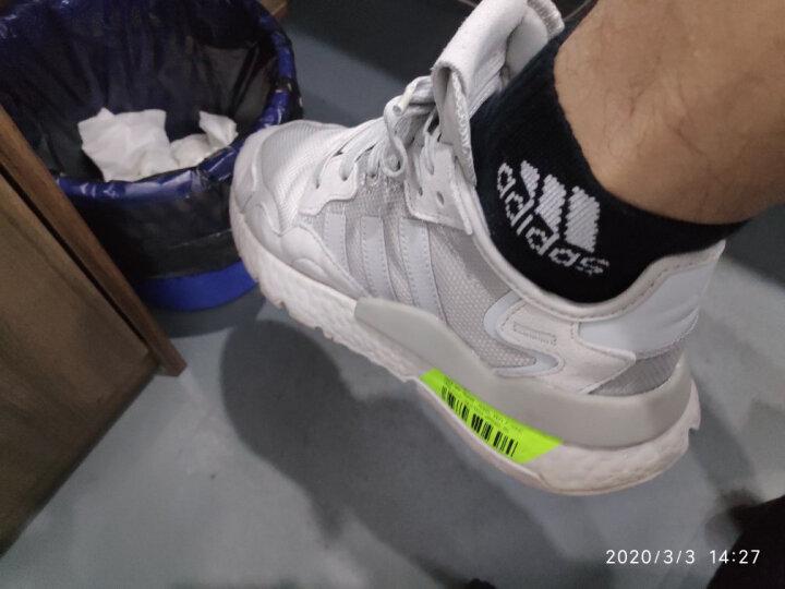 阿迪达斯adidas男女袜子运动休闲棉袜三双装黑色适合37-42码 晒单图