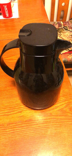 特美刻TOMIC保温壶家用 暖壶水壶热水瓶暖瓶大容量玻璃内胆英伦时尚咖啡壶 黑色1.5L 晒单图
