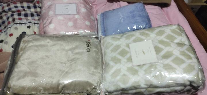 御棉堂 毛毯被A类秋冬季加厚法兰绒毯子毛巾被法莱珊瑚绒办公室午睡盖毯床单宿舍褥单双人 灰色圆点150*200cm 晒单图