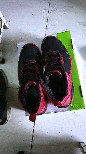 乔丹(QIAODAN) 乔丹篮球鞋男运动鞋男学生透气高帮减震耐磨黑骑士战靴运动篮球鞋 黑色/银色 42 晒单图