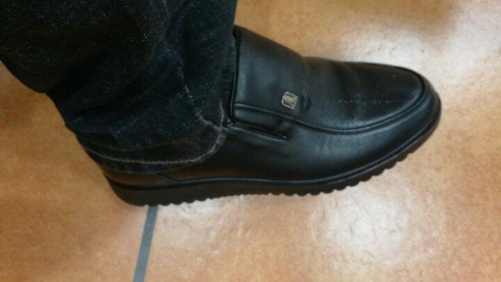 老人头(LAORENTOU)皮鞋男士商务鞋套脚舒适正装皮鞋 LJD587 棕色 43 晒单图