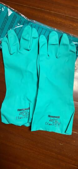 Honeywell霍尼韦尔2094831丁腈防化手套劳保防滑工业耐油耐酸碱防护手套 1双 L 晒单图