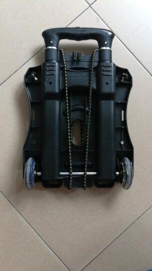 空间优品 小推车购物车行李车折叠拉杆车小拖车手拉车货车承重约70KG黑色 晒单图