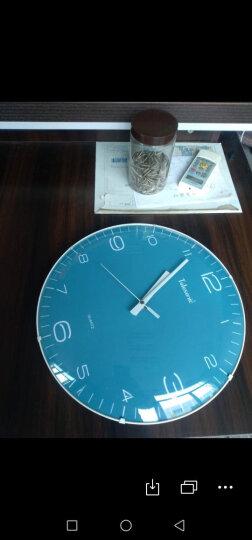 天王星(Telesonic)挂钟 客厅卧室时钟立体浮雕创意简约静音扫描石英钟表14英寸Q5679-4红色 晒单图