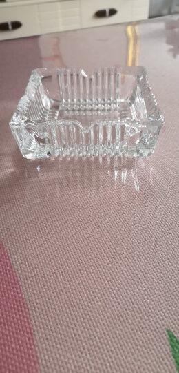 费纳斯(FEiNASi)烟灰缸 水晶玻璃烟灰缸 创意方形简约个性家用客厅办公室烟缸 方形简约款(直径18.5cm) 晒单图