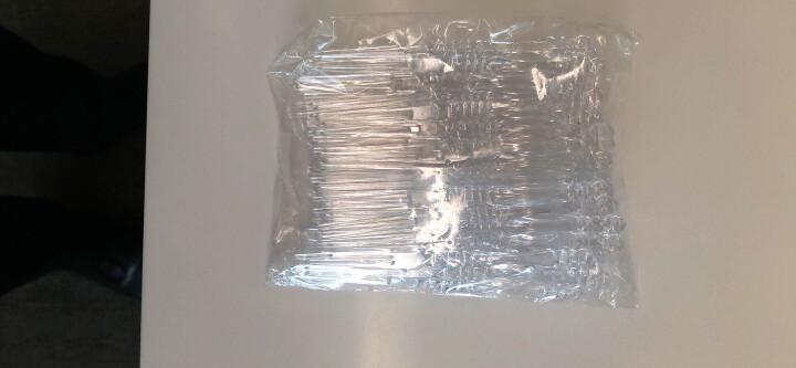 一次性水果叉450支 塑料叉子二齿竹节叉 透明OK叉 剑叉  水果签月饼叉子 12CM 透明果叉/450支 晒单图