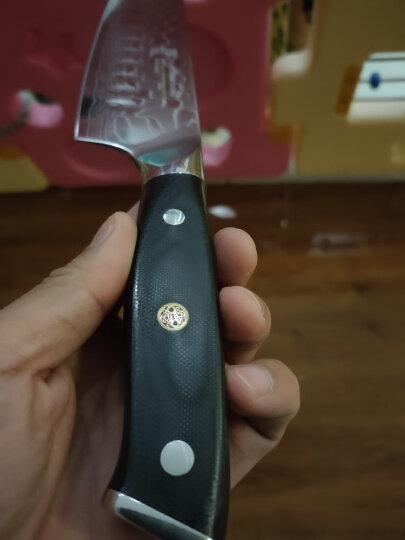 拓(TUOBITUO) 拓牌刀具日本进口45层大马士革钢材制造多功能三德刀G10手柄 龙骨纹 晒单图
