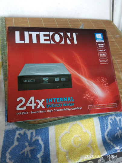 建兴(LITEON)24倍速 SATA接口 内置DVD刻录机 台式机光驱 黑色(支持WindowsXP/7/8/10系统/IHAS324) 晒单图