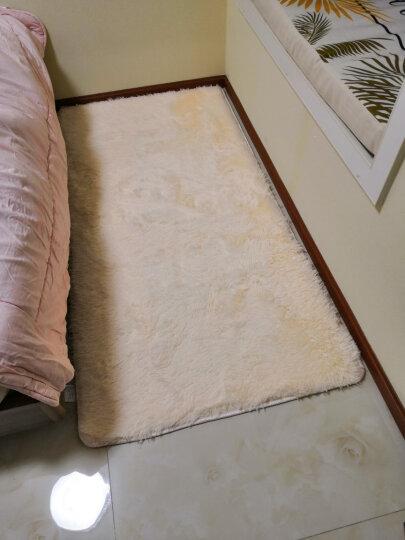 梓晨 简约现代客厅茶几地毯丝毛绒卧室床边满铺地毯 小资米黄(厚度4.5cm) 80CMx160CM 晒单图