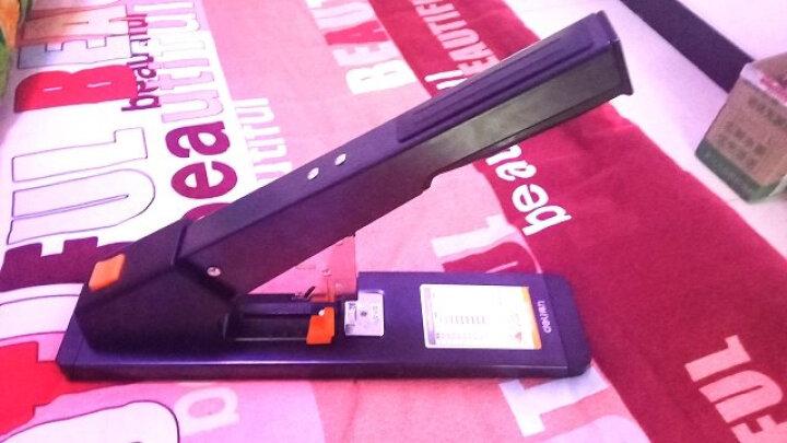 得力(deli)210页重型订书机/订书器 可订皮革 适配23/6~23/23订书钉 办公用品 黑色0396 晒单图