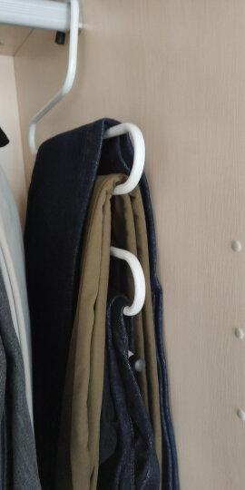 晟旎尚品 衣架 S型晾衣架 裤架 皮带多层挂架 西裤挂衣架 铁艺衣柜收纳魔术挂裤衣架 简约白 1只装 晒单图
