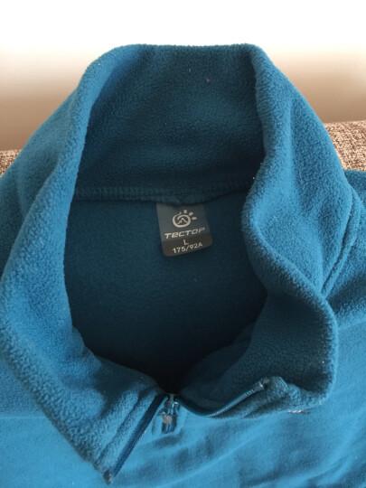 探拓(TECTOP) 99元两件 户外套头抓绒衣 秋冬男女情侣款加厚保暖卫衣 可内穿外套 034姜黄女 L 晒单图