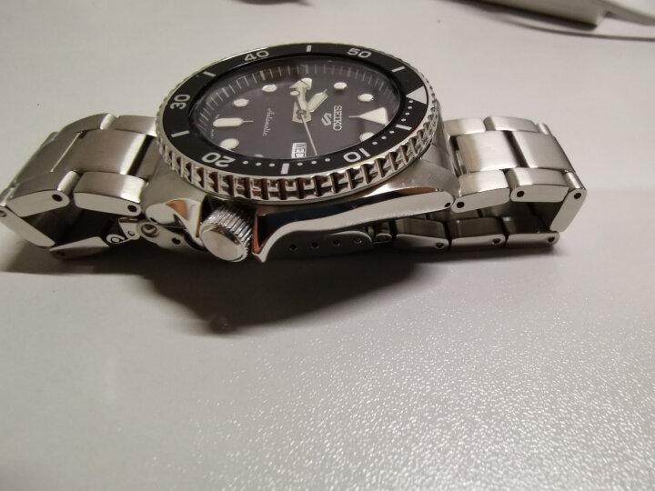 精工(SEIKO)手表 日本原装进口SEIKO5号运动系列红牙水鬼夜光黑盘胶带4R机芯自动机械男表SRP601J1 晒单图