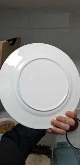 乐享 景德镇陶瓷碗碟盘纯白8英寸家用圆盘意大利面盘酒店西餐盘汤盘套装深盘4只装 晒单图